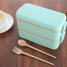 Load image into Gallery viewer, Eco-Friendly Wheat Straw Bento Lunch Box 800ml
