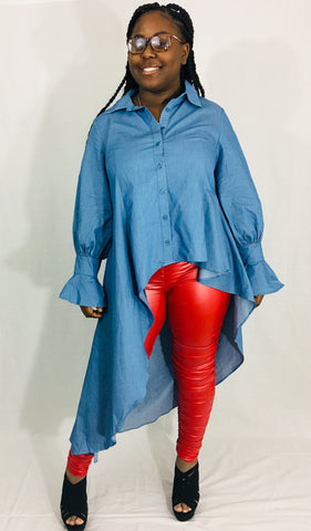 Denim Touch Blouse