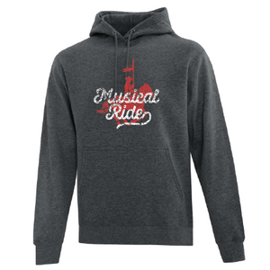 Musical Ride Charcoal Mens Hoodie