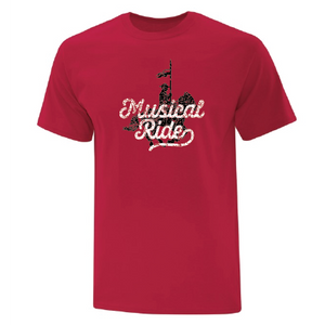 Musical Ride Red Mens Tee