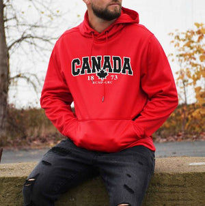 Mens Red Performance Hoodie