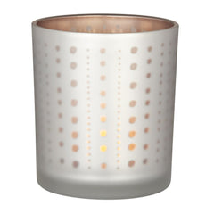 Dot glass tea light holder