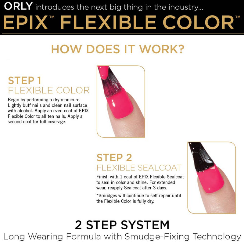 ORLY EPIX Flexible Colour Nail Polish - Opening Night (18ml)