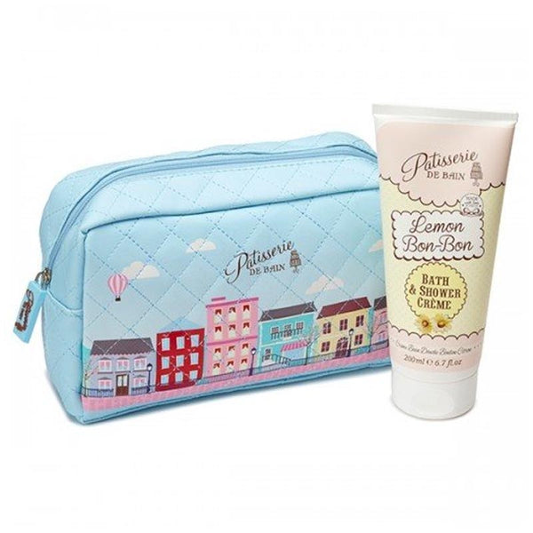 Patisserie De Bain Lemon Bon Bon Shower Crème Cosmetic Bag Gift Set (200ml) PB952