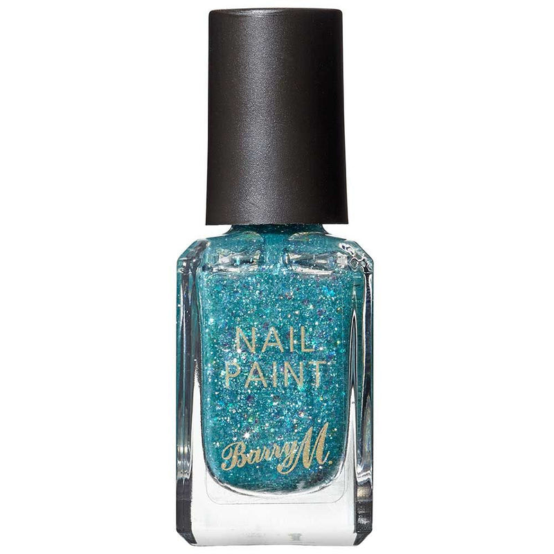 Barry M NP371 Ethereal Forest Green Glitter Nail Polish - The Nail Paint Collection