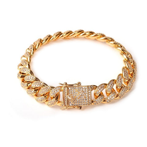 Diamond Cuban Link Bracelet (14mm)