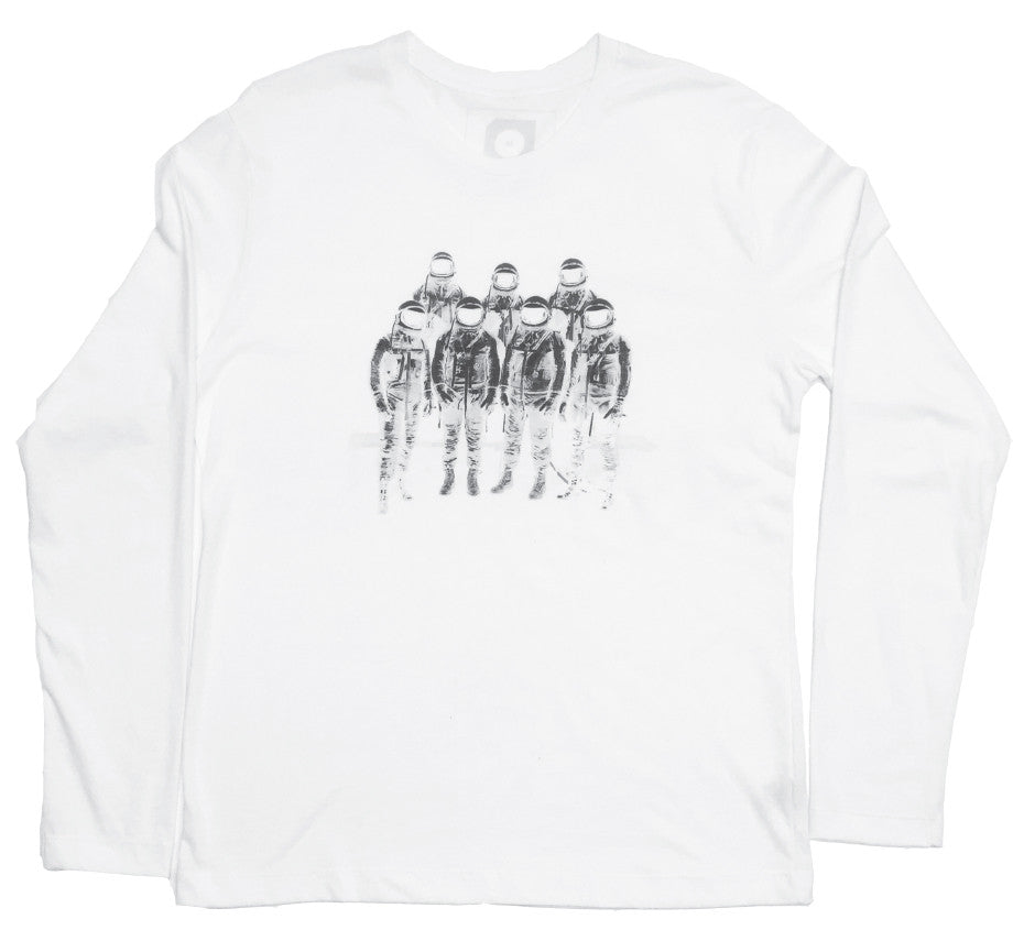 Space Long-sleeve T-shirt - White
