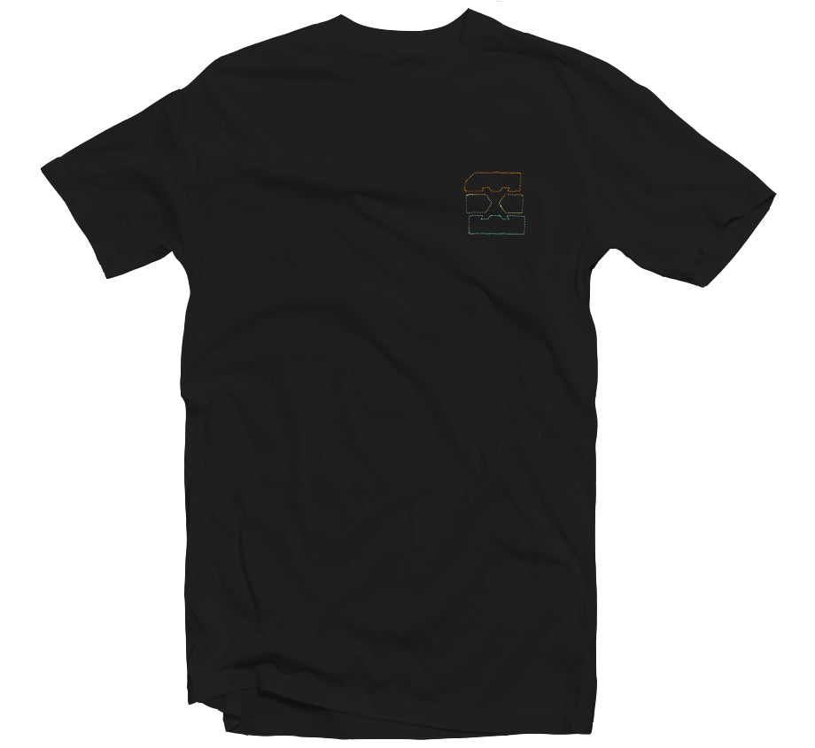 Summer '19 - Sunset Embroidered T-shirt (Black)