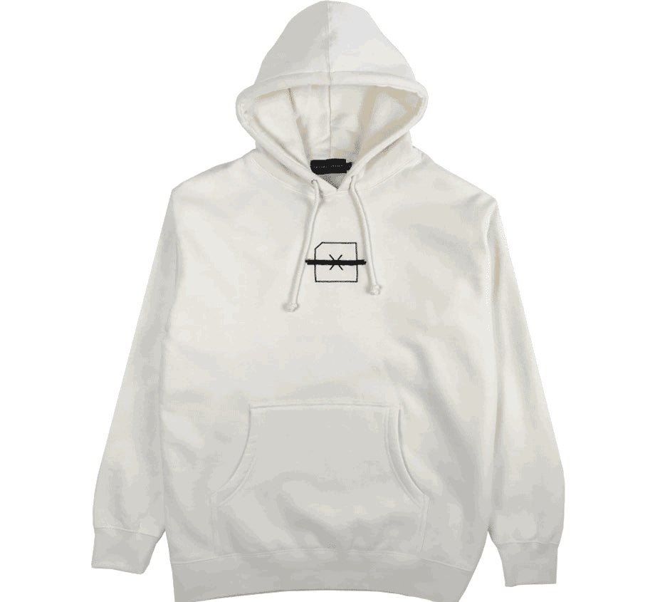 Freedom Of Information Embroidered Hoodie (Creme)