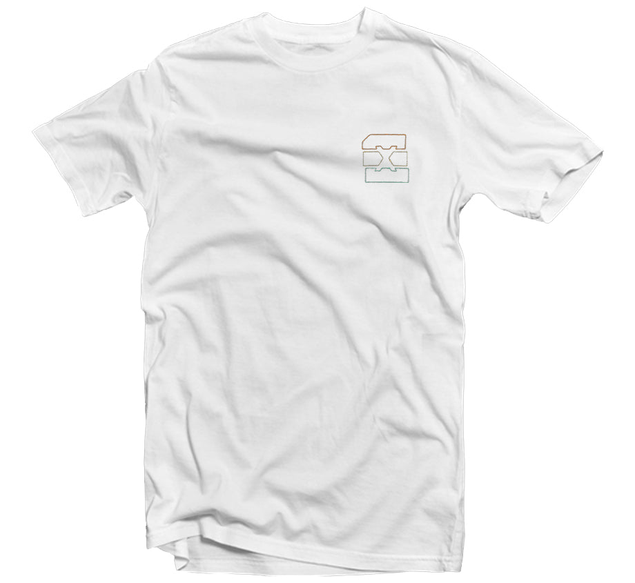 Summer '19 - Sunset Embroidered T-shirt (White)
