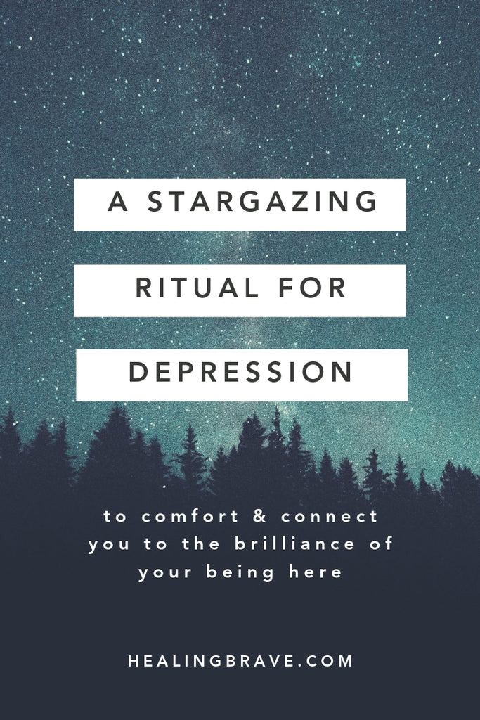 When everything's dark and you just can't shake it, try this stargazing ritual to reconnect with your true nature: you're not all light or all dark, but both. You're the sky AND its stars. You're not just what your eyes can see... you're so much more.