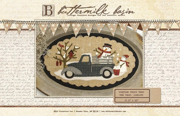 Vintage Truck Thru January Pattern by Buttermilk Basin