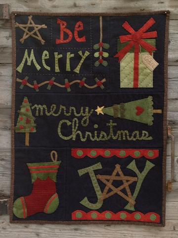Be Merry pattern  by Wooden Spool Designs