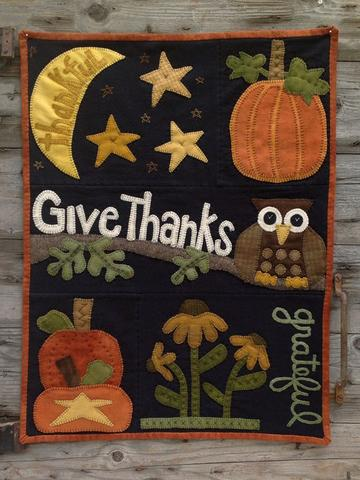 Owl ways Thankful pattern  by Wooden Spool Designs