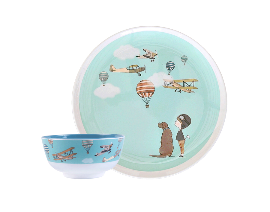 Illustrated Dinner Set - Tom and Lucy