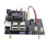 "Raspberry Pi X820 V3.0 2.5"" SATA Storage Board + X735 Power Management Board+ DC 5V 4A Power Supply+Metal Case Kit"