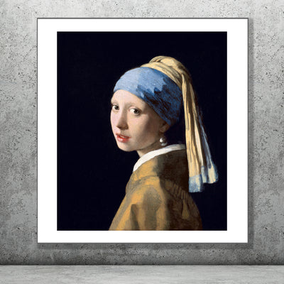 Art print of Girl with a Pearl Earring. Browse more of our art prints online or in our shop in Temple Bar, Dublin.