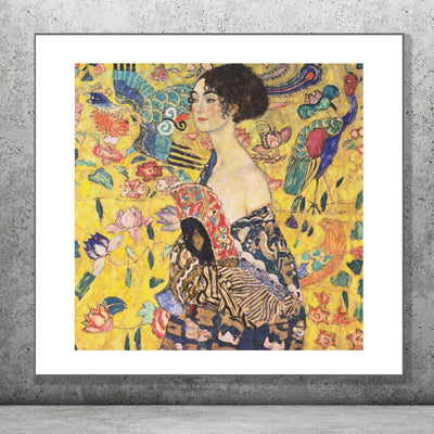 Art print of Lady With Fan, Gustav Klimt. Browse collection online or visit our store in Temple Bar, Dublin.