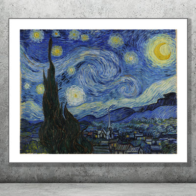 Art Print of The Starry Night. Browse our online store or visit our shop in Temple Bar, Dublin.