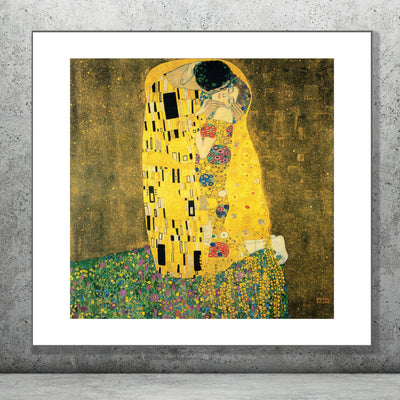 Art Print of The Kiss, Gustav Klimt.