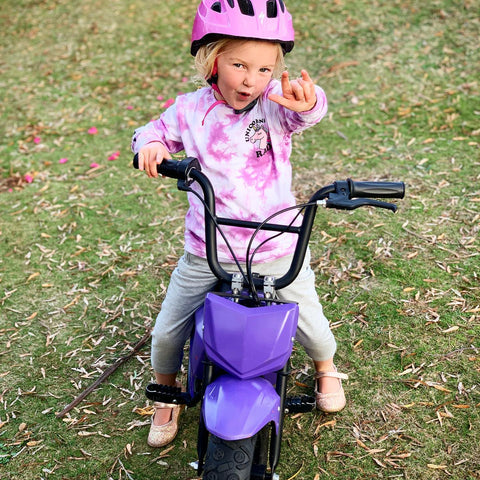 Ready to get dirty on the kids electric bike