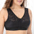 Front Buckle Sports Bras Breathable Solid Color Floral Lace