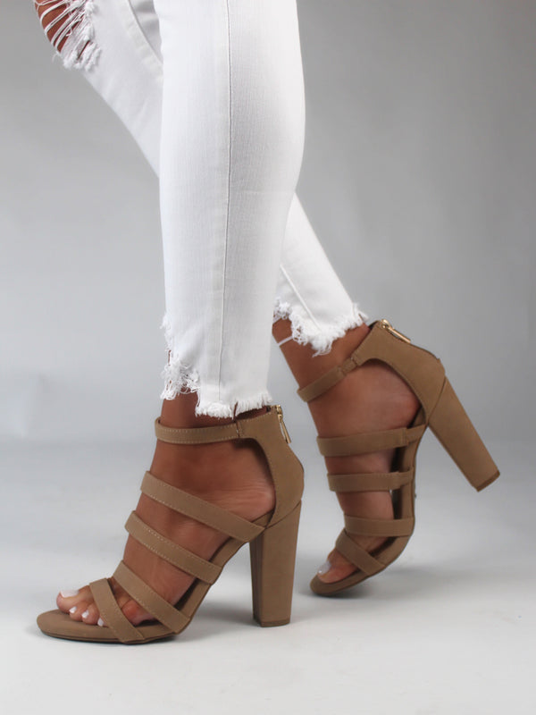 Tulum Nude Heels FINAL SALE