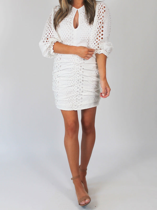 The Madi Eyelet Dress | White | FINAL SALE