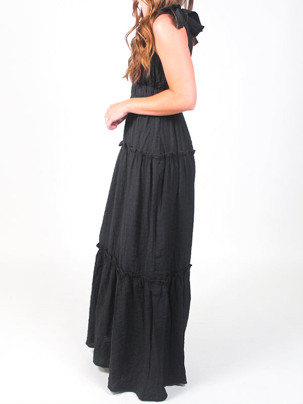 When in Rome Maxi Dress | Black | FINAL SALE