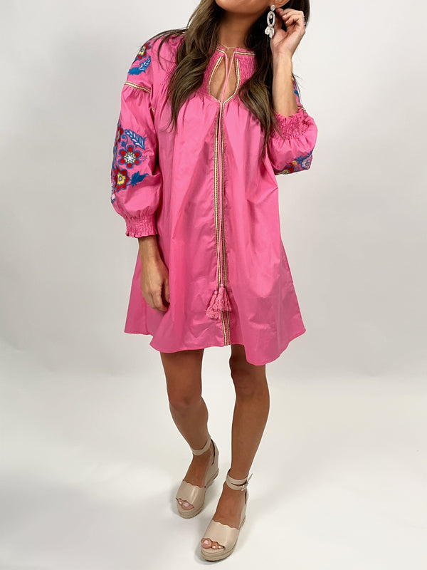 Embroidered Tunic | Bright Pink FINAL SALE