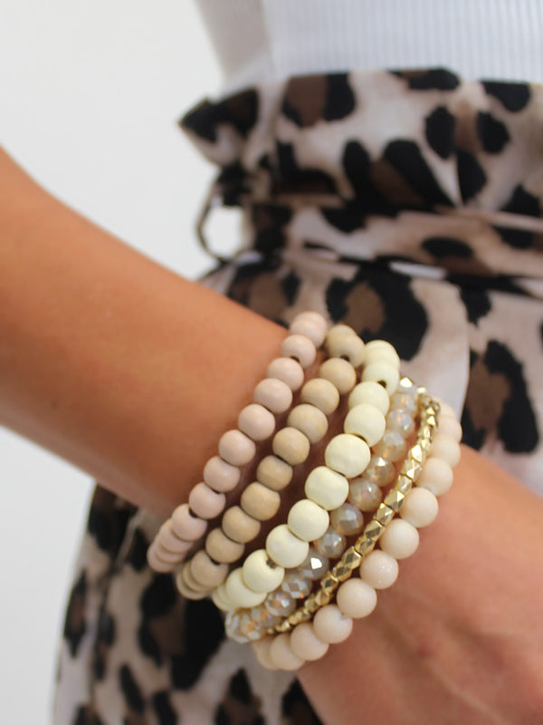 Beaded Stack | Nude