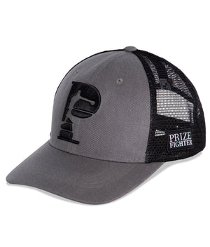 All the grey/black trucker hat