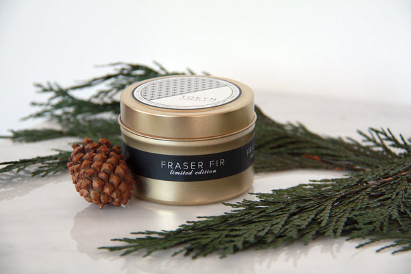 Gold Travel Tin ~ Seasonal Exclusive ~ Fraser Fir