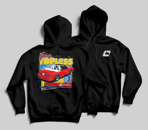 """Going Topless"" Fox Body Convertible Hoodie"