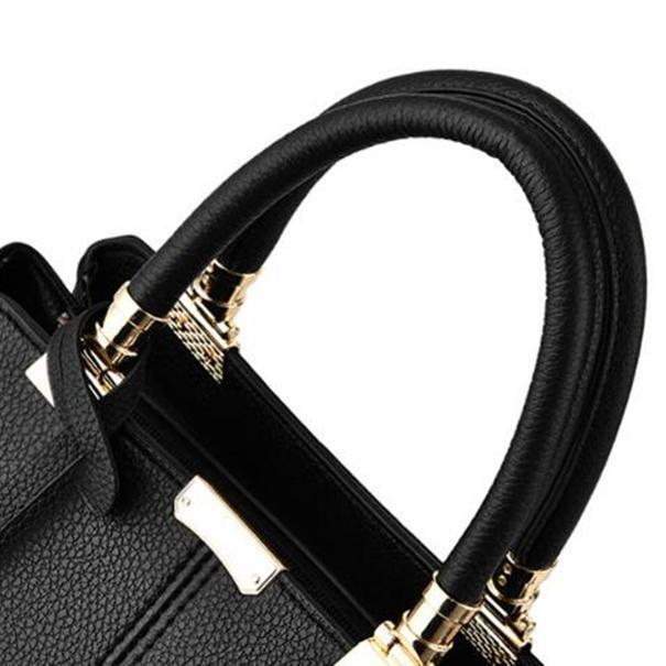 Metal Decor Shoulder Crossbody Messenger Bag