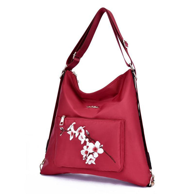 Women Nylon 4pc Set Embroidery Bags