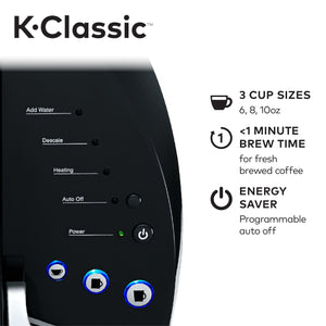 Keurig K-Classic Coffee Maker K-Cup Pod, Single Serve, Programmable, Black
