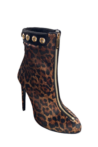 TRAINA LEOPARD-PRINT ANKLE BOOT - Monika Chiang