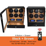 Watch winder Multi-function LCD touch screen, Wood