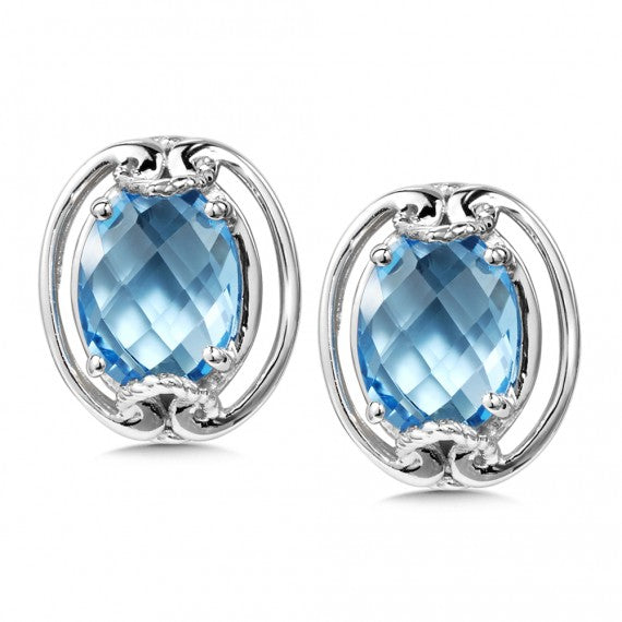 Color SG - Blue Topaz Earrings