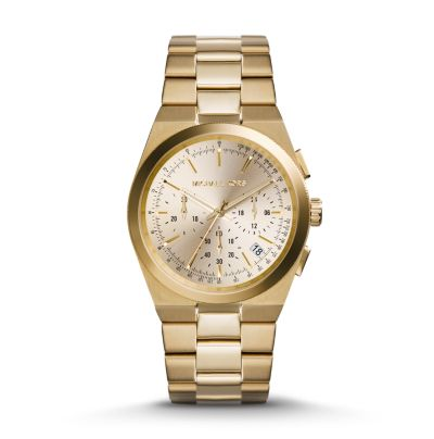 Michael Kors Unisex Gold-Tone Channing Watch