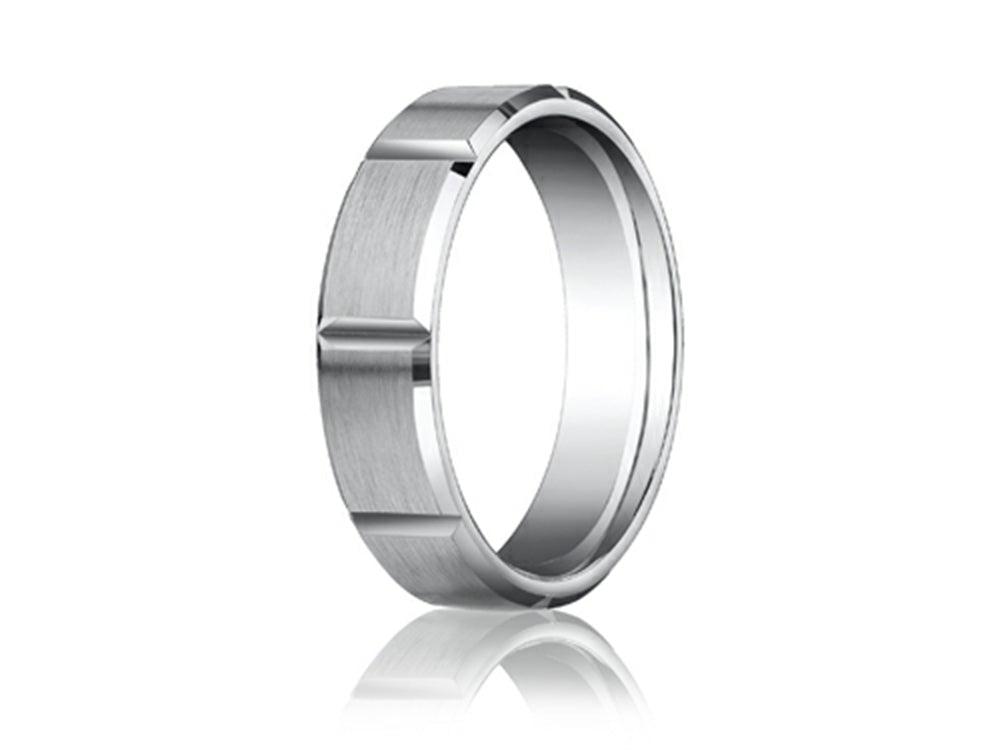 Benchmark 6mm Grooves Carved Men's Band