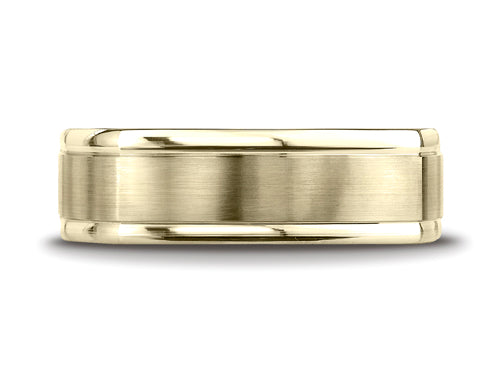 Benchmark 7mm Satin-finished Men's Band