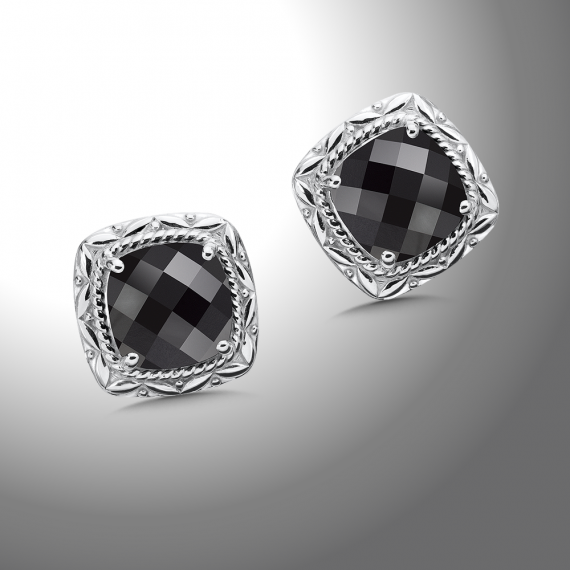Color SG - Onyx Post Earrings