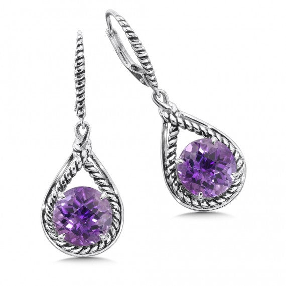 Color SG - Purple Amethyst Earrings