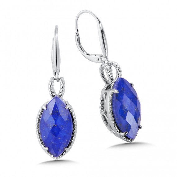 Color SG - Lapis Lazul Fusion Leverback Earrings