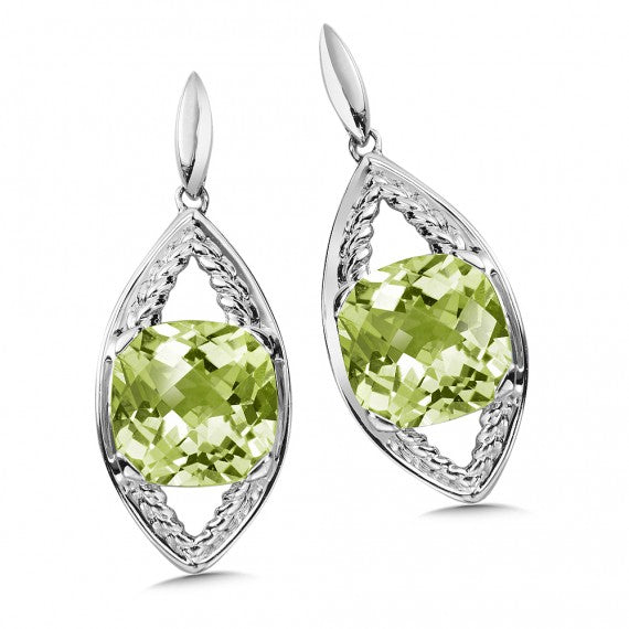 Color SG - Green Amethyst Post Earrings