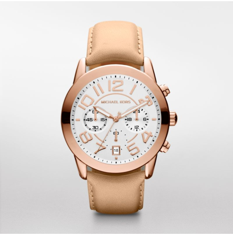 Michael Kors Rose Vachetta Leather Women's Watch