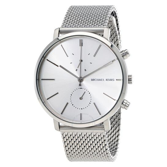 Michael Kors Jaryn Silver Dial Men's Mesh Watch