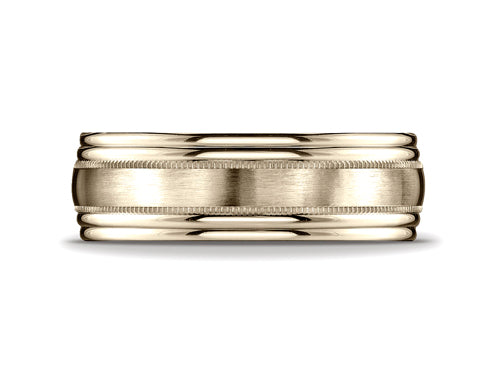 Benchmark7.5mm Milgrain Men's Band